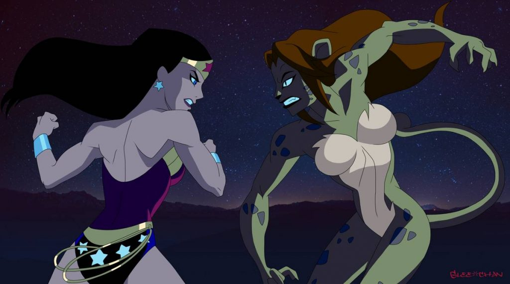 Wonder Woman and Cheetah fight it out in Justice LEague