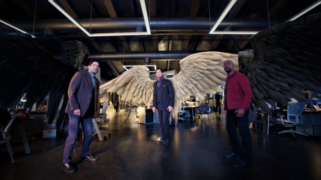 Lucifer with Amenadiel and Michael
