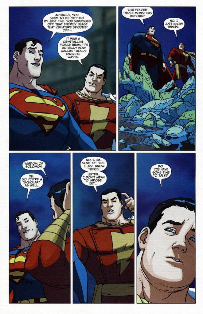 Shazam with Superman
