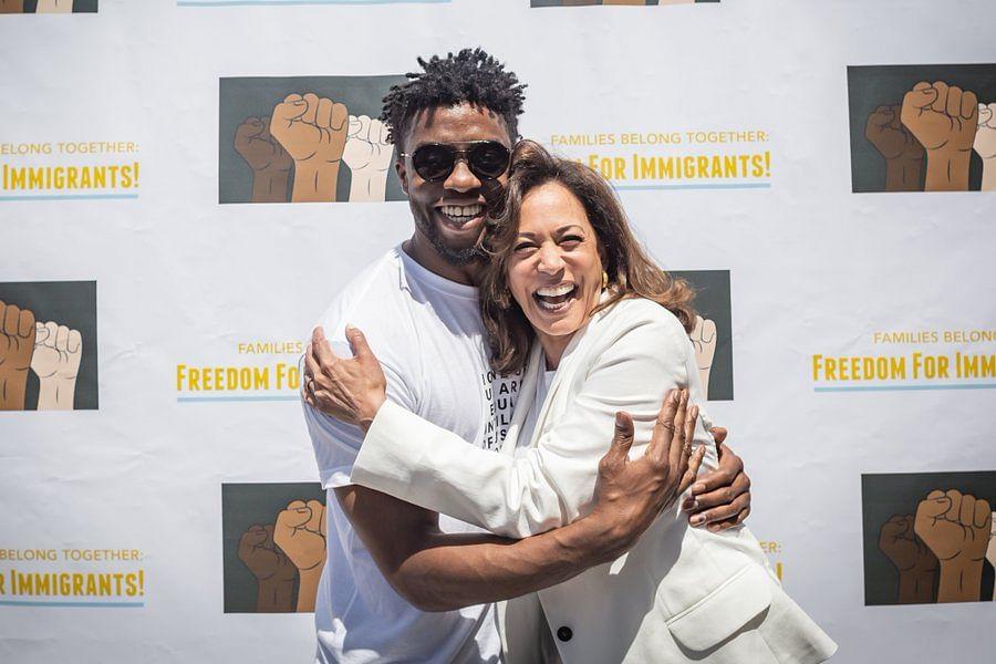 Chadwick Boseman with Harris