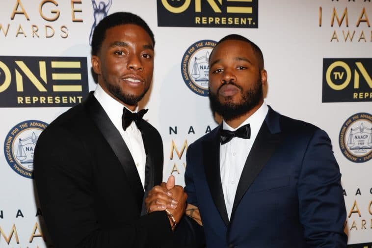 Boseman with Black Panther director Ryan Coogler