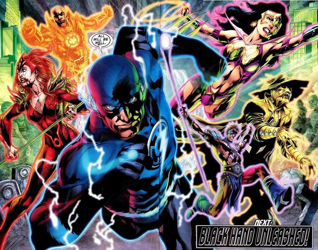 Flash wearing Blue Lantern Costume
