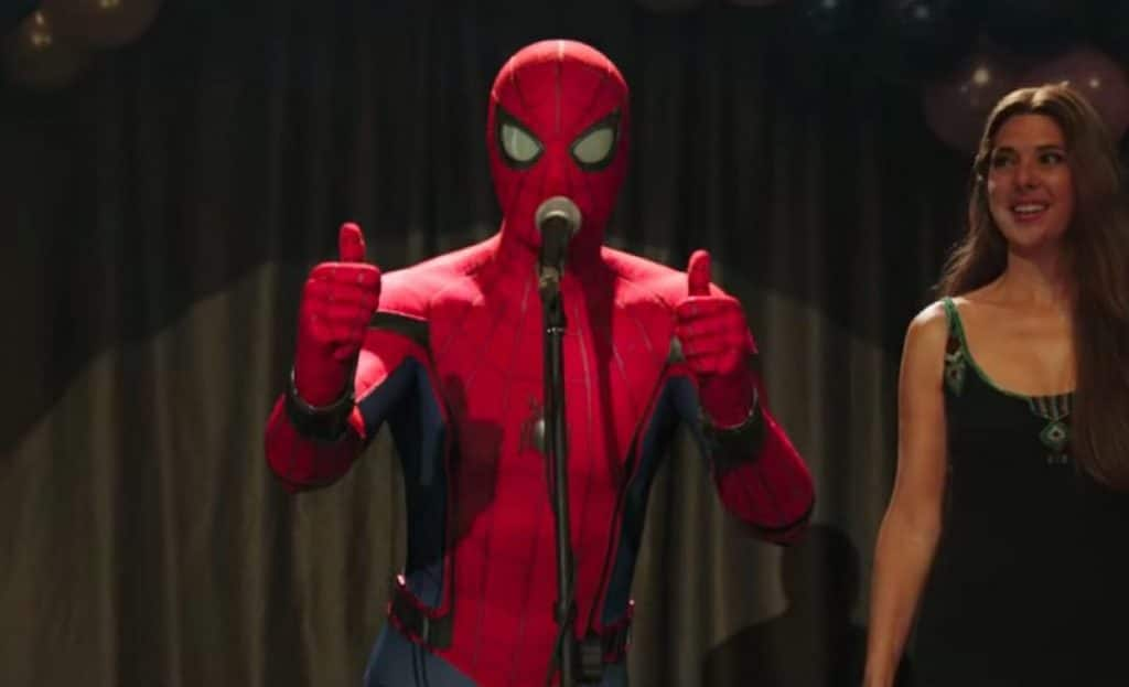 Tom Holland in original Spider Man suit in Far from Home's trailer