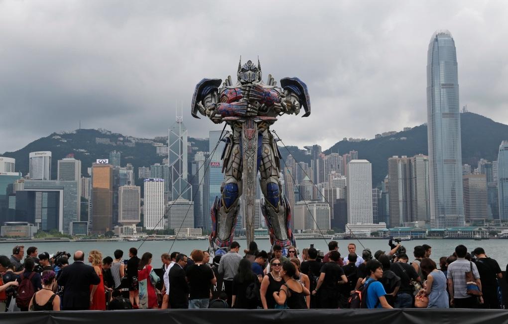optimus prime china statue