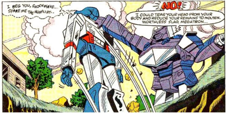 transformers megatron generation one comic