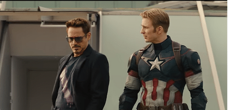 Tony Stark and Steve rogers - Age of Ultron