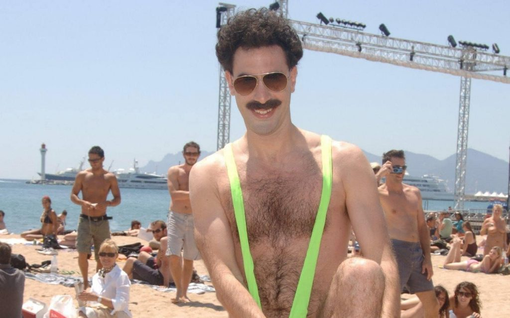 Cohen in Borat 'mankinis'