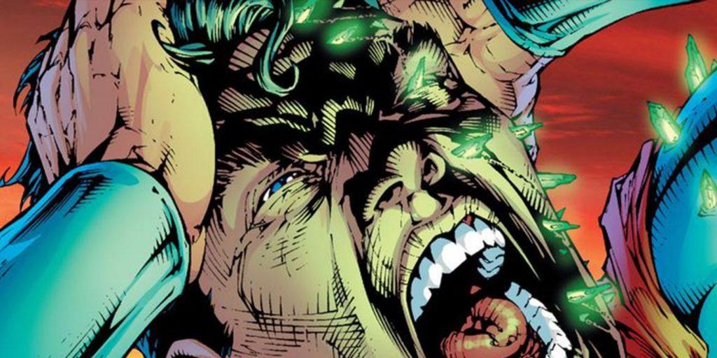 Superman Screaming with Kryptonite