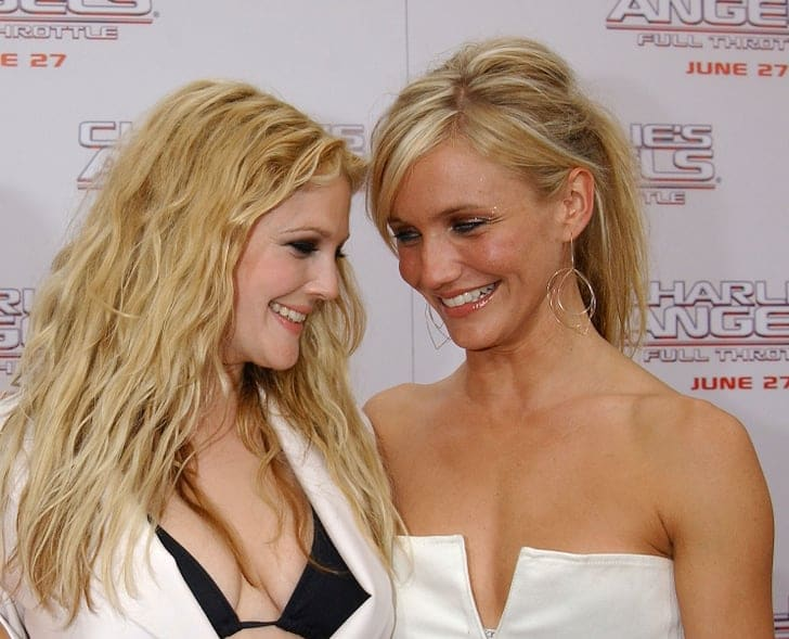 Drew Barrymore and Cameron Diaz at an event