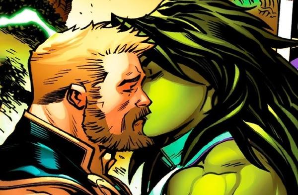 Thor Odinson and Jennifer Walters