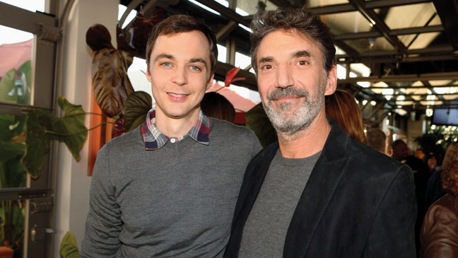 Parsons with show creator Chuck Lorre