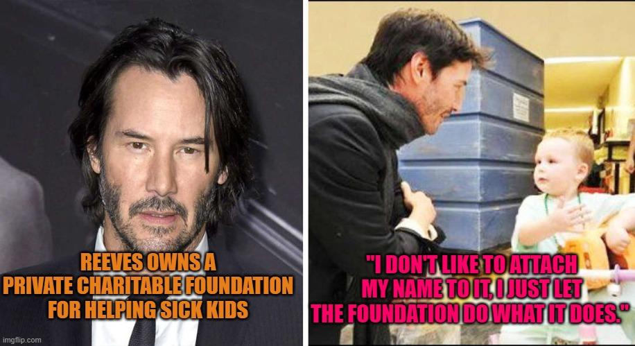 keanu reeves money cancer children's hospital