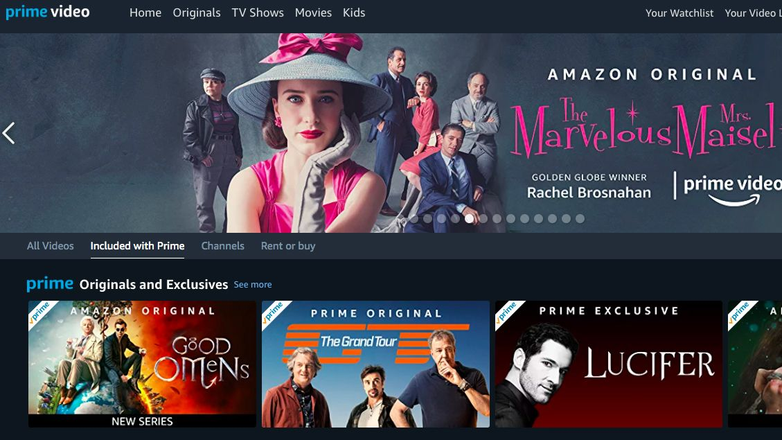 Original shows on Amazon prime
