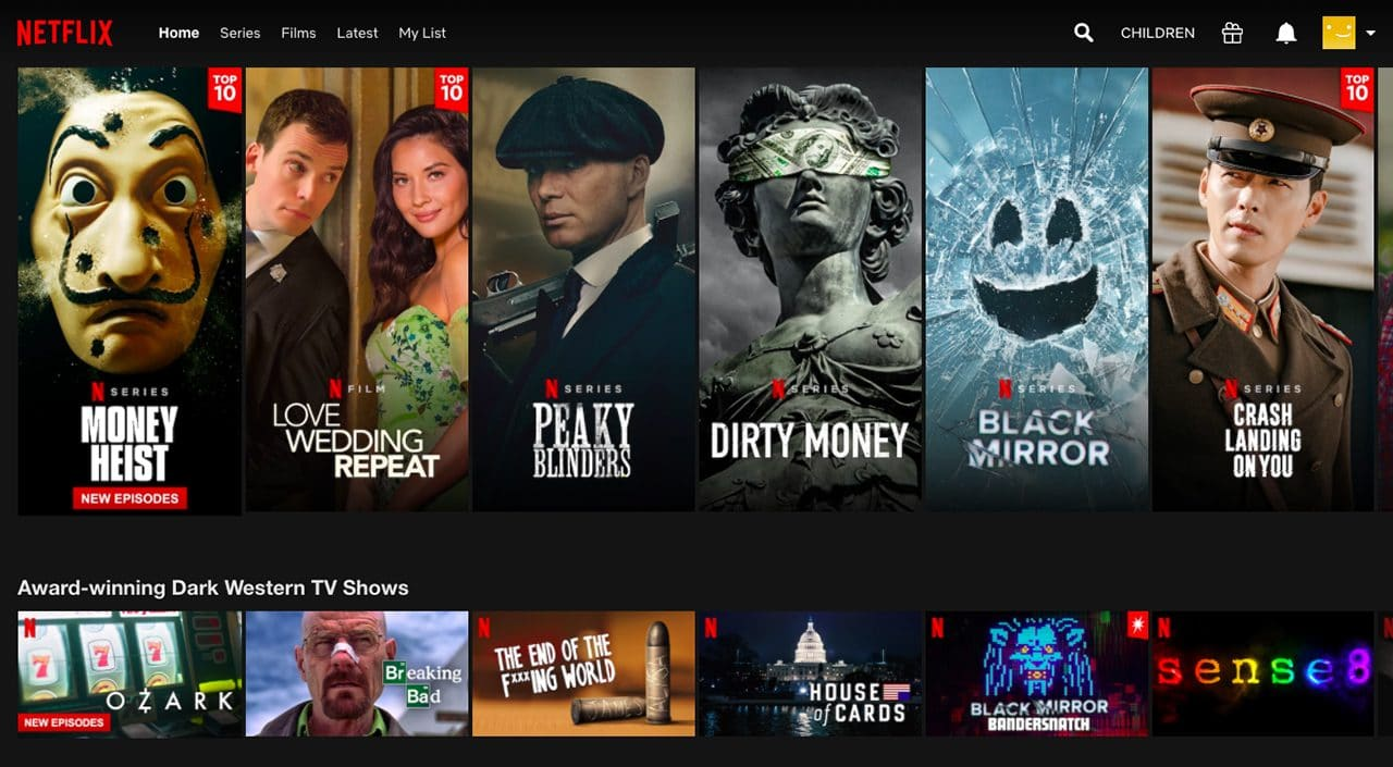 Original shows on Netflix