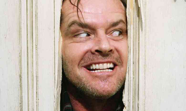 JAck Nicholson in Stephen King's The Shining