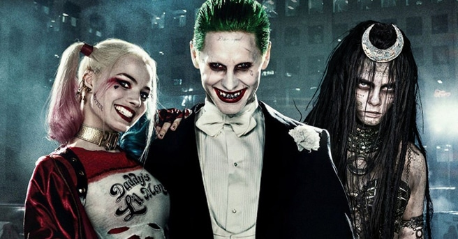 Harley, Joker and Enchantress in Suicide Squad