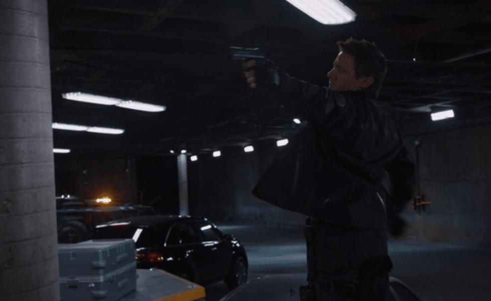 Hawkeye with a gun