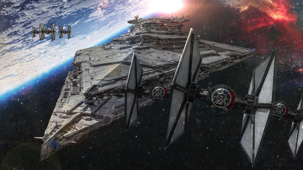 tie fighter swarm