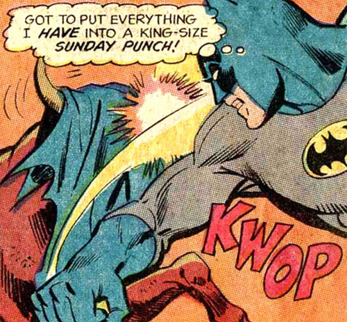 Batman punching a bull