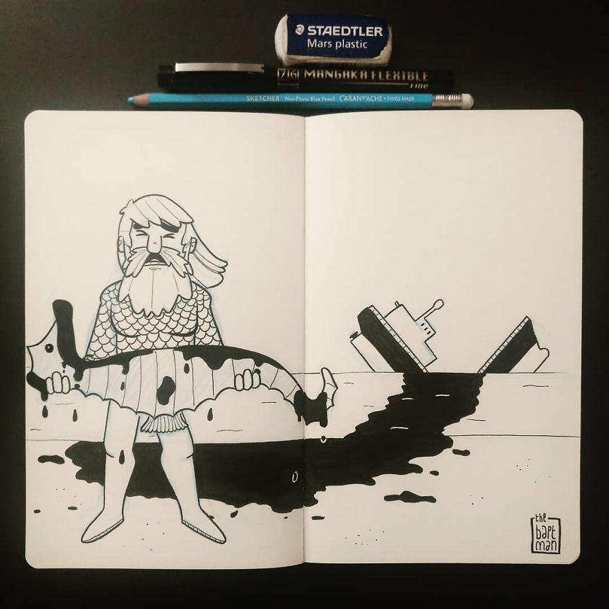 Aquaman and Ocean Pollution