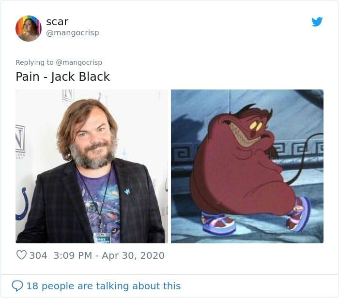 Jack Black and Pain tweet