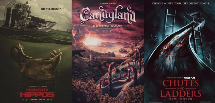 What if our favorite Board Games were Horror Movie Posters?