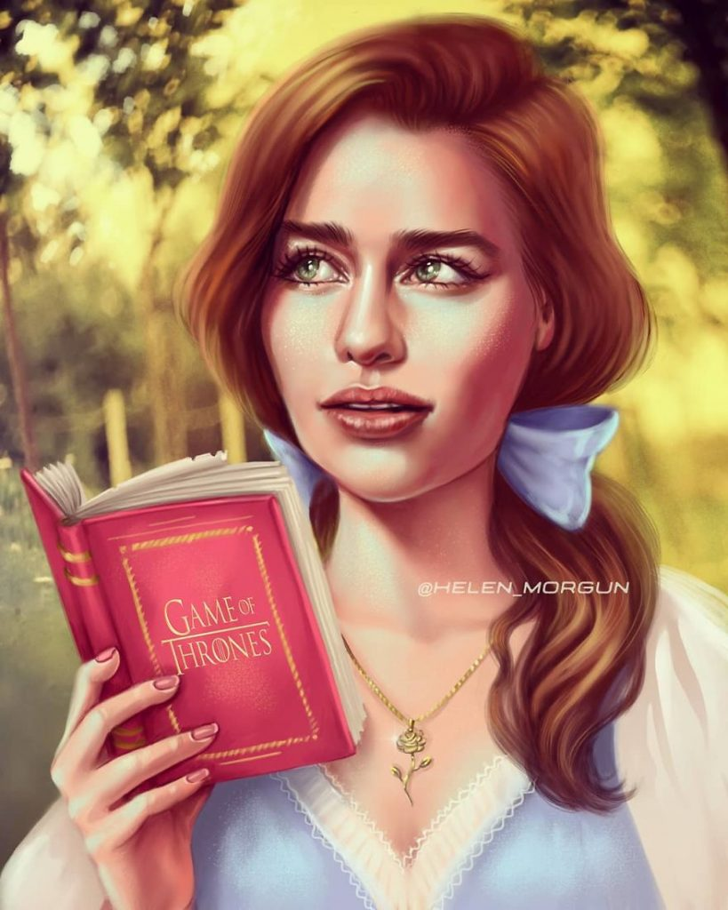 Illustration to show celebrities as Disney characters