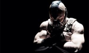 Bane played by Tom Hardy in Dark Knight Rises
