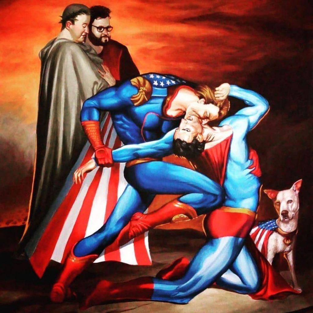 The Boy's Antony Starr Offers Fiercely Sensual Homelander versus Superman Fan Art