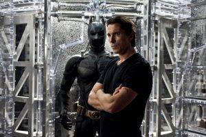 Christian Bale as Batman in the Dark Knight Trilogy