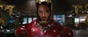Robert Downey Jr as Iron Man in the MCU