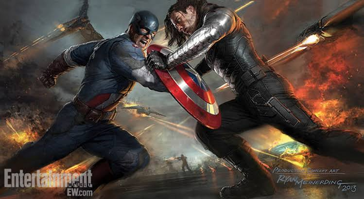Captain America and Winter Shoulder fight