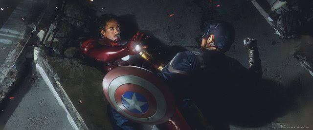 Captain America final battle scene in Civil War
