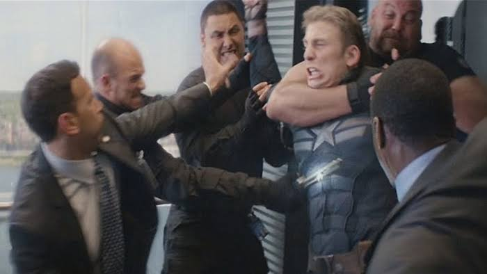 Captain America's lift Scene