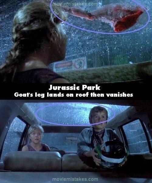 Jurassic Park mistake