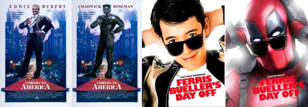 Marvel's film banners on distinct movies