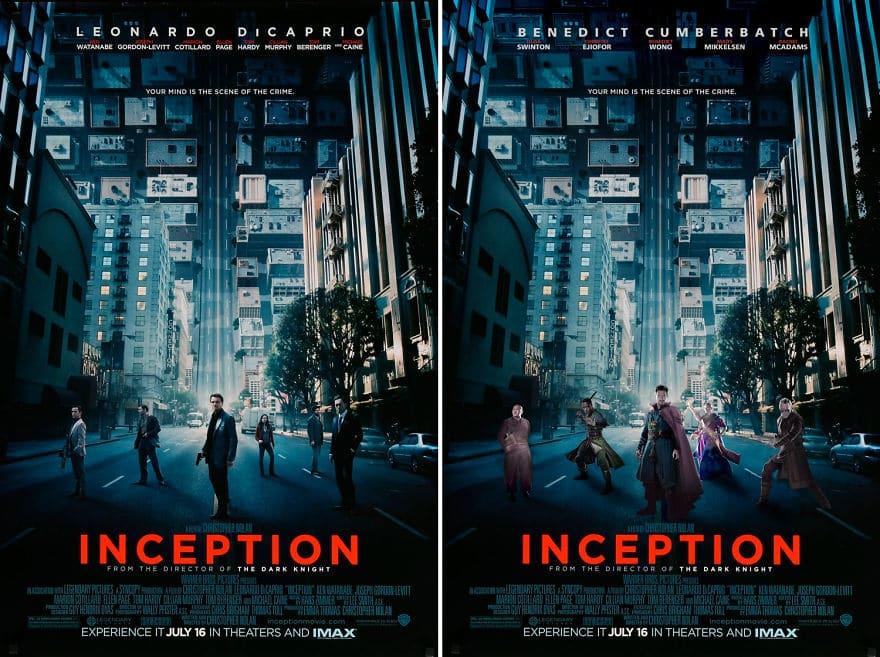 Dr. Strange in Inception movie banner