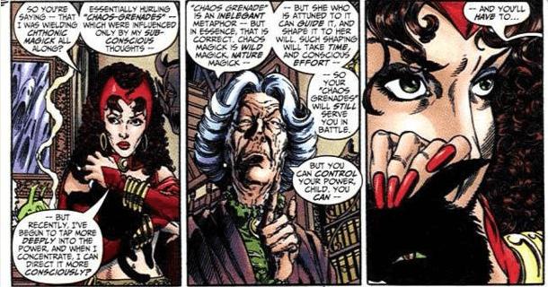 Agatha helped Wanda at every step
