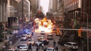 New York Battle scene in 2008's The Avengers