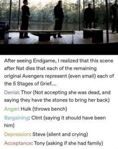 Avengers grieving
