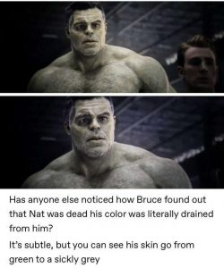 Hulk color draining away