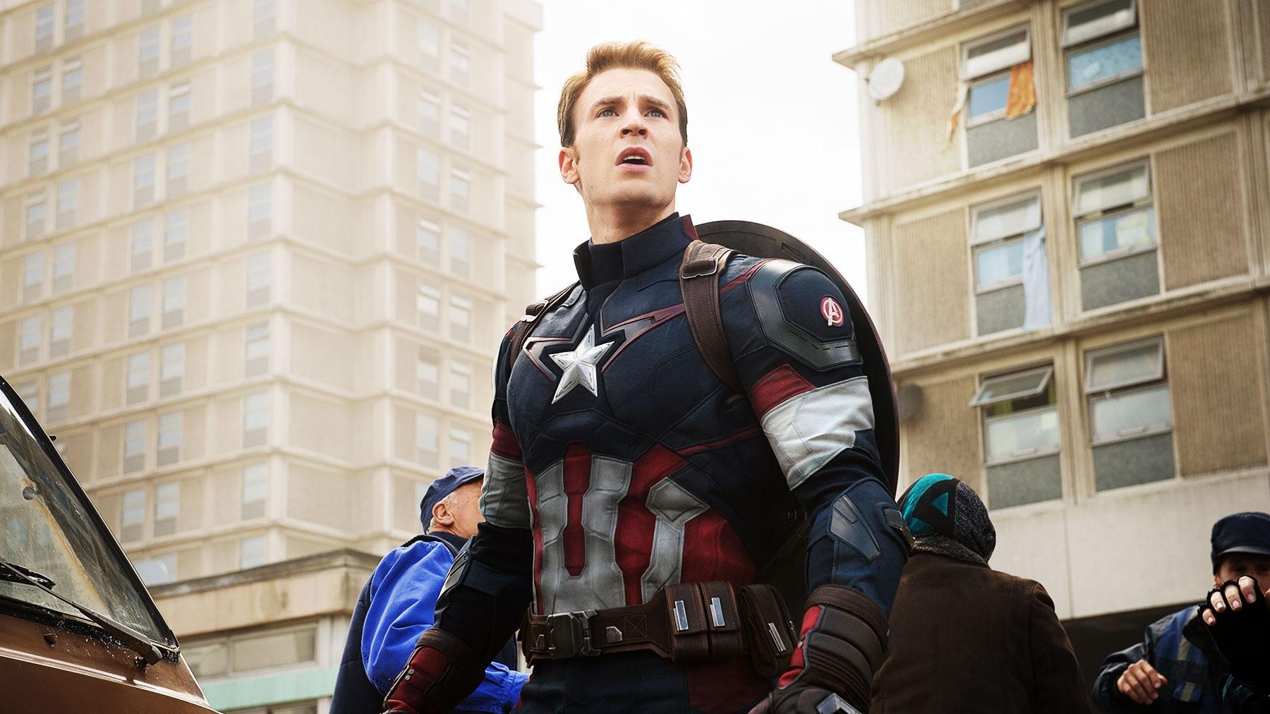 Chris Evans as Captain America in Winter Soldier