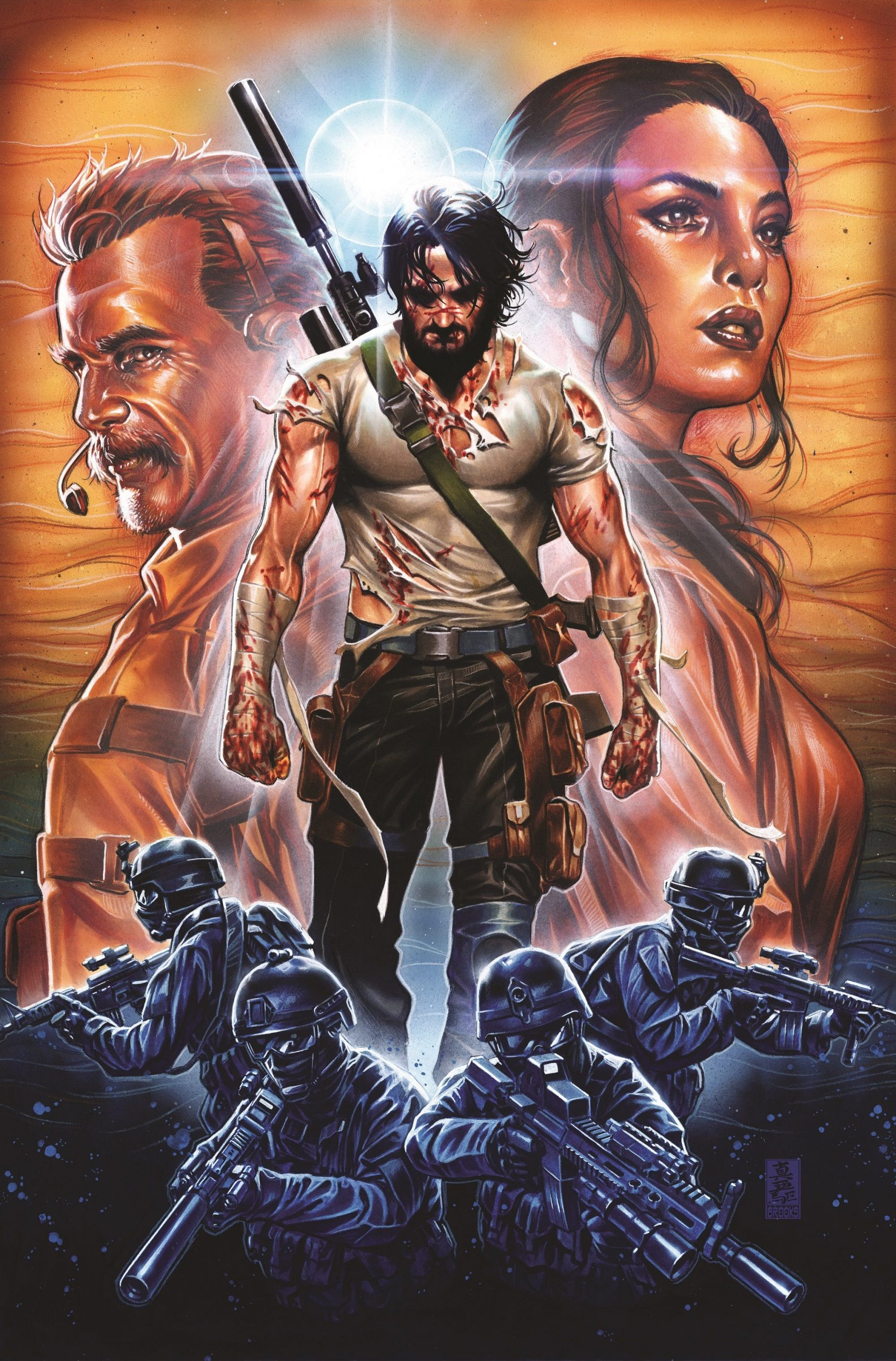 Keanu Reeves had earlier debuted as a comic book writer with BRZRKR